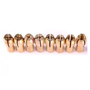 8 штук цанговых зажимов 1 мм / 1,6 мм / 2,3 мм / 3,2 мм по 2 шт.
