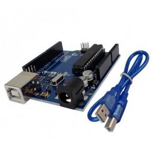 Модуль Arduino Uno ATmega328P-PU Module ATMEGA8U2 AVR USB Cable Board