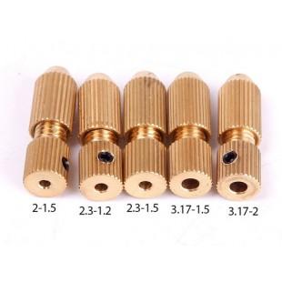 Цанговые зажимы для минидрели 1 шт. 2-1.5 (1.0mm-1.5mm) 2.3-1.2 (0.7mm-1.2mm) 2.3-1.5 (1.0mm-1.5mm) 3.17-1.5 (1,0 мм-1.5мм) 3.17-2.0 (1.4mm-2.0mm).