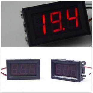 Электронный вольтметр красный 0-30 Вольт постоянный ток