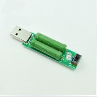 USB индикатор-тестер  с нагрузочным резистром Переключатель 2A 1A #61104