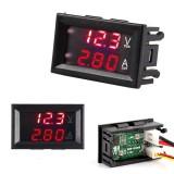 50 ампер DC0-100V цифровой амперметр-вольтметр красные индикаторы