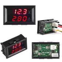 100 ампер DC0-100V Цифровой амперметр-вольтметр с красными индикаторами