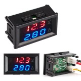 100 ампер DC0-100V Вольтметр Амперметр красно голубой индикатор