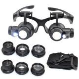 10X 15X 20X 25X увеличительные очки со сменными линзами