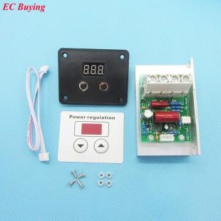 10000 Вт электронный цифровой регулятор мощности, скорости двигателя (диммер) термостат
