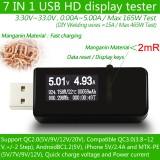 7 в 1 USB Тестер Цифровой вольтметр амперметр