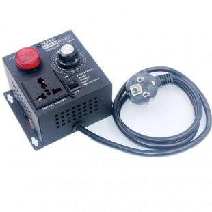 Электронный регулятор напряжения AC 220 В 4000 Вт с дисплеем и розеткой