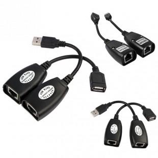 Купить Удлинитель USB через RJ45