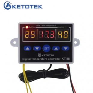 Цифровой термостат для контроля температуры 12 В 24 В 110 В 220 В 19 ~ 99c Выход 10A 220 В AC