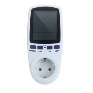 Бытовой ваттметр - счётчик потребляемой электроэнергии переменного тока TS-836 с розеткой