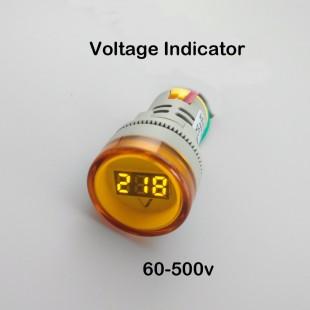 22 мм tomzn AC 60-500 В LED вольтметр Индикатор Пилот светло-красный желтый и зеленый цвета белый синий