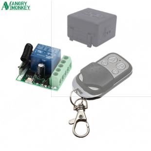 Универсальный переключатель беспроводного дистанционного управления АС85 SRD-12VDC-SL-A в комплекте с пультом дистанционного управления