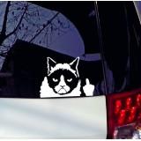 Стикер на стекло автомобиля Наглый Кот
