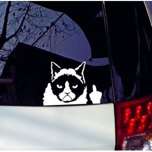 Наклейка на автомобиль Сварливый кот (Наглый кот)