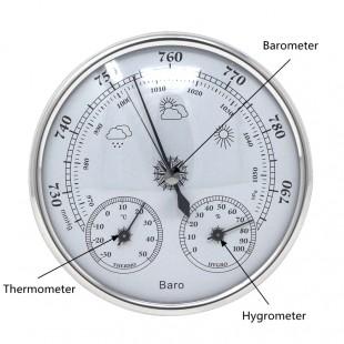 Аналоговый Барометр термометр гигрометр настенный.