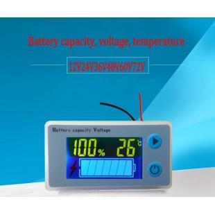 Универсальный автомобильный тестер емкости аккумулятора с термометром