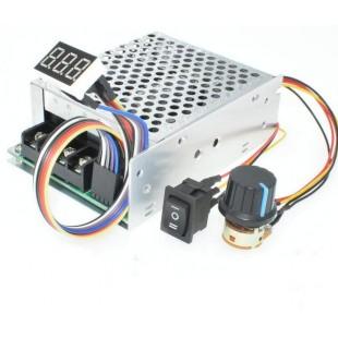 Цифровой дисплей 0 ~ 100%, регулируемый постоянный ток 10-50 в, 40 А, контроллер скорости двигателя постоянного тока PWM 12 В, 24 В, 48 В, 2000 Вт, Макс 60 А, Реверсивный