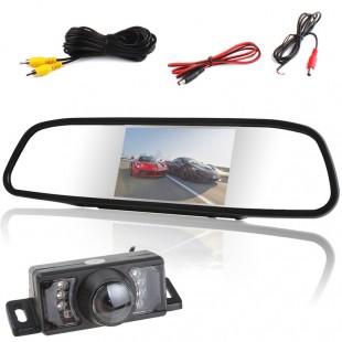 4.3 дюймовый LCD монитор заднего вида с зеркалом + Автомобильная камера заднего вида