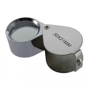Складная мини лупа 30x21 мм увеличение 30 кратное