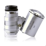 60x Карманный микроскоп лупа для ювелиров