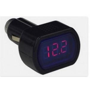 ЖК- вольтметр для прикуривателя автомобиля 8-30 Вольт