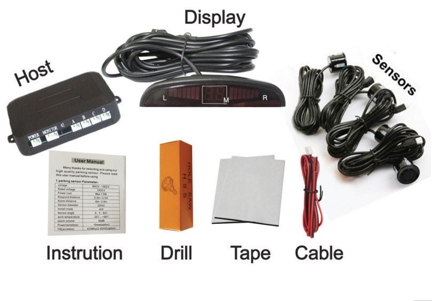 Парктроник - комплект поставки