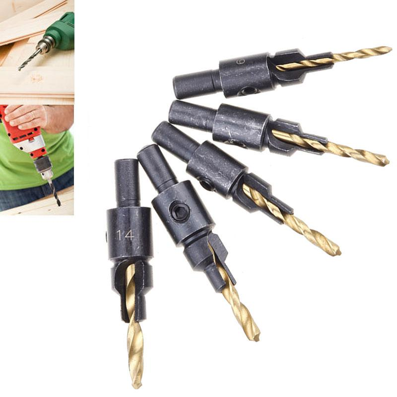 5pcs-Woodworking-Countersink-Drill-Bit-Kits-Counter-Bore-Screw-6-8-10-12-14-P068